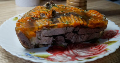 Заливное из говяжьего языка с желатином — пошаговый рецепт приготовления