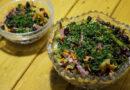 Салат с фасолью, морковью и луком